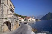 Travel photography:Perast waterfront, Montenegro