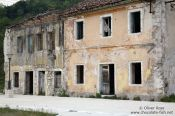 Travel photography:Abandoned houses in Rijeka-Crnojevica, Montenegro