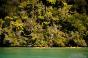 Travel photography:Kayakers in the Abel Tasman National Park, New Zealand