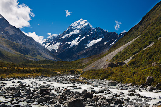 View of Mt Cook in Mount Cook National Park