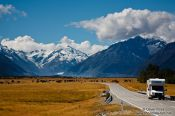 Travel photography:Camper van in Mount Cook National Park, New Zealand