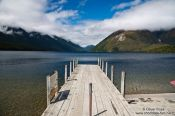 Travel photography:Jetty at Lake Rotoiti near Saint Arnaud, New Zealand