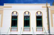 Travel photography:Art Deco Facade in Napier, New Zealand