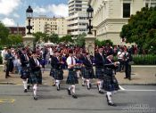 Travel photography:Bagpipe parade in Wellington, New Zealand
