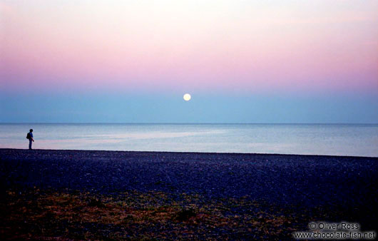 Moon over Napier Beach