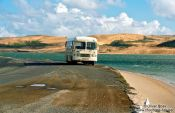 Travel photography:School Bus at the Hokianga inlet, New Zealand