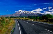 Travel photography:Mount Ruapehu in the Tongariro Ntl Park, New Zealand