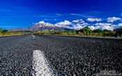 Travel photography:Mt Ruapehu viewed from State Highway 1, New Zealand
