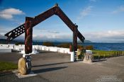 Travel photography:Marae at the lakefront in Rotorua, New Zealand