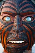 Travel photography:Sculpture in Rotorua Marae, New Zealand