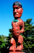 Travel photography:Maori carving in Rotorua, New Zealand