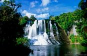 Travel photography:Aniwaniwa waterfall in Te Urewera Ntl Park, New Zealand