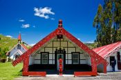 Travel photography:Tribal meeting house on a Marae near Whanganui, New Zealand
