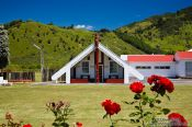 Travel photography:Meeting house on a Marae near Whanganui, New Zealand