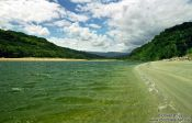 Travel photography:Reaching the heaphy river at the end of the Heaphy track , New Zealand