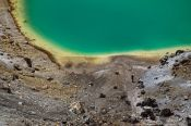 Travel photography:Emerald Lakes in Tongariro National Park, New Zealand