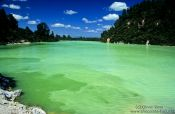 Travel photography:Thermal pool in the Waiotapu volcanic area, New Zealand