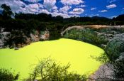 Travel photography:Pool in the Waiotapu thermal area, New Zealand