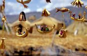 Travel photography:Souvenirs for tourists for sale on the floating islands, Peru