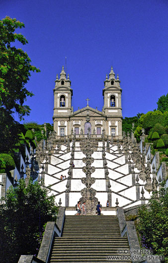 The Sanctuary of Bom Jesus do Monte in Braga with staircase