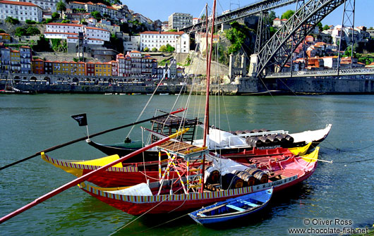 Rabelo Boats on the River Douro in Porto