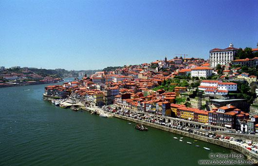 Porto`s Ribeira District with River Douro
