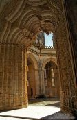 Travel photography:Archway inside the Mosteiro da Batalha, Portugal