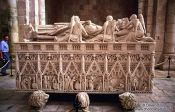Travel photography:Marble tomb inside the Mosteiro da Batalha, Portugal