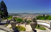 Travel photography:View from the Sanctuary of Bom Jesus do Monte in Braga, Portugal