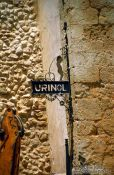Travel photography:Please pee here ... open street urinal in Lisbon, Portugal