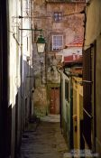 Travel photography:Woman in Porto Back Street, Portugal