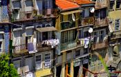 Travel photography:Houses in Porto`s Ribeira District, Portugal