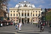 Travel photography:The Slovak National Theatre in Bratislava, Slovakia