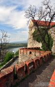 Travel photography:Bratislava castle above the Danube river, Slovakia