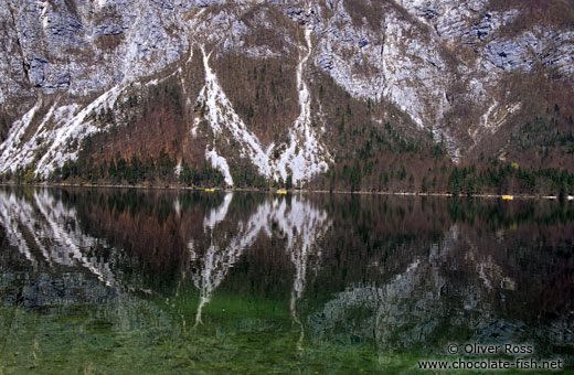 Reflections in Bohinjsko lake