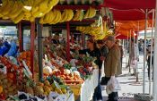 Travel photography:The fruit market in Ljubljana, Slovenia