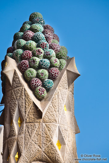 Barcelona Sagrada Familia towers outside