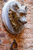 Travel photography:Detail in the stables of Palau Güell, Spain