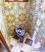 Travel photography:Lavatory in Palau Güell, Spain