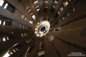 Travel photography:Barcelona Sagrada Familia shaft inside one of the towers, Spain