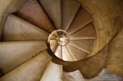 Travel photography:Barcelona Sagrada Familia spiral staircase inside one of the towers, Spain