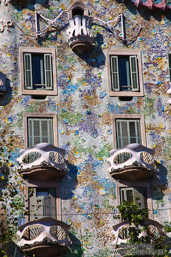 Facade of the Casa Batlló in Barcelona