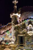 Travel photography:Casa Batló on the Illa de la Discòrdia by architect Antoni Gaudí, Spain