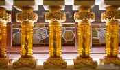 Travel photography:Detail inside the Palau de la Musica Catalana, Spain