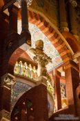 Travel photography:Facade detail of the Palau de la Musica Catalana, Spain