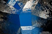 Travel photography:Skylight in the Natural History Museum (Museu Blau) near Barcelona Forum, Spain