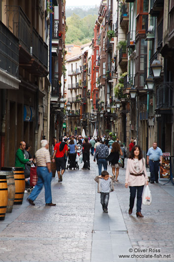 Street in the casco viejo (old town) in Bilbao