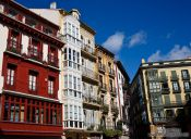 Travel photography:Bilbao houses, Spain