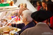 Travel photography:People at the Bilbao food market, Spain