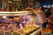 Travel photography:Olives for sale at the Bilbao food market, Spain